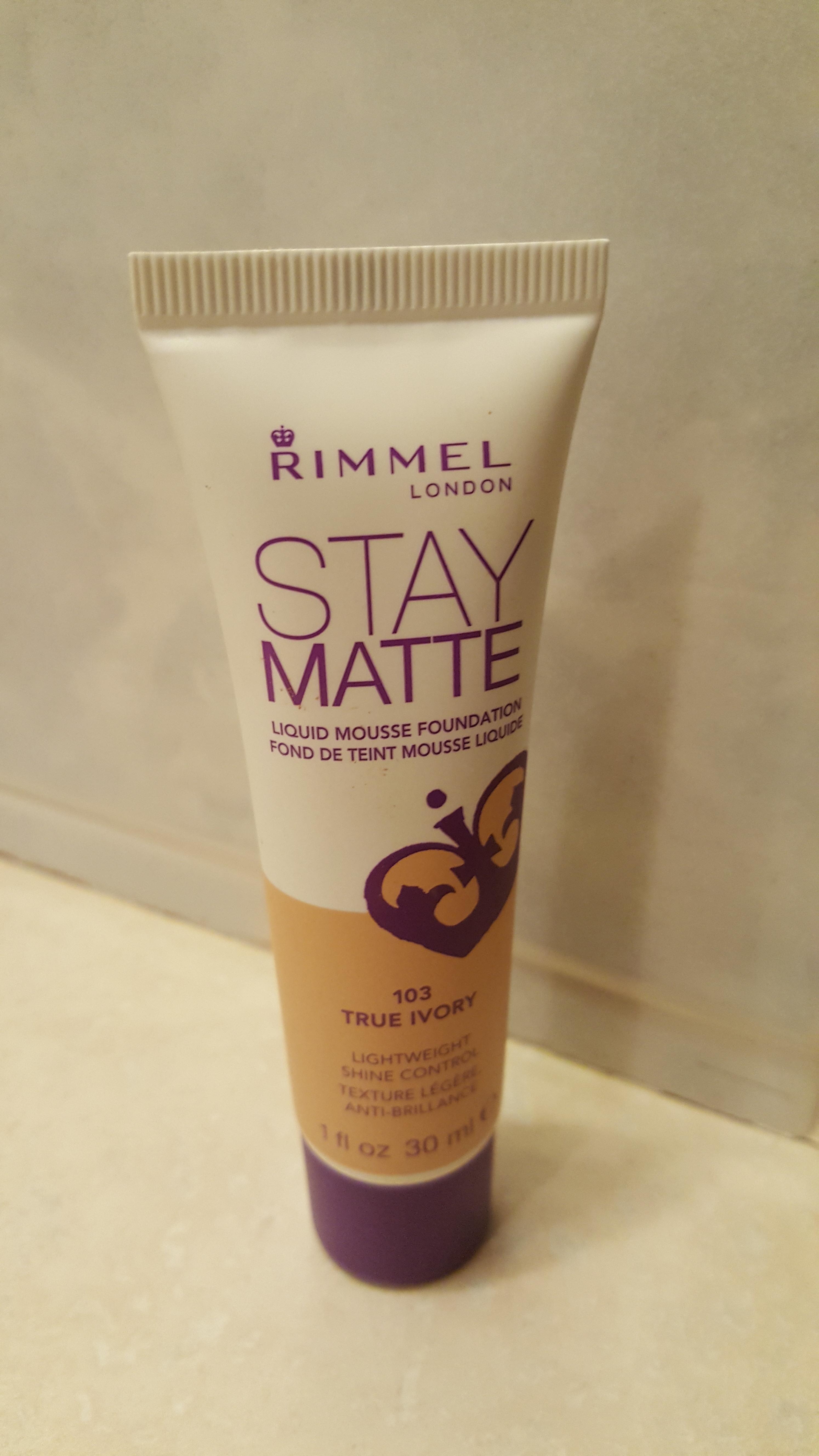 Rimmel London Stay Matte Liquid Mousse Foundation reviews ...