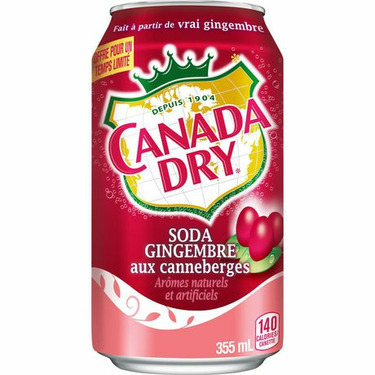 Canada Dry Cranberry Flavoured Ginger Ale