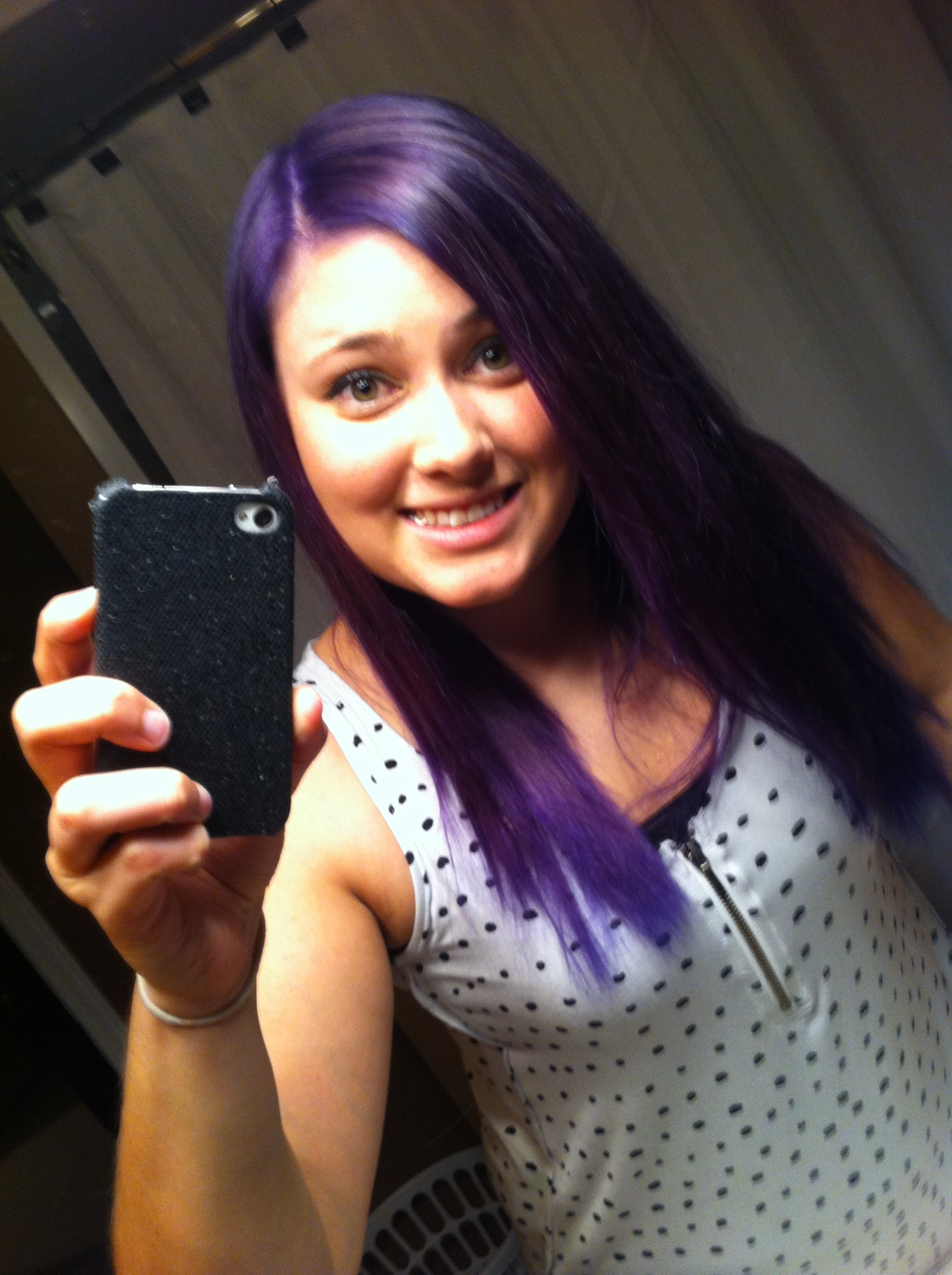Manic Panic Ultra Violet On Brown Hair Find Your Perfect