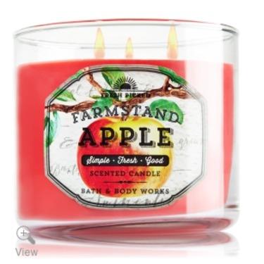 Bath & Body Works 3 Wick Candle Farmstand Apple