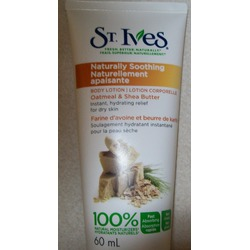 St. Ives Naturally Soothing Oatmeal and Shea Butter Body Lotion