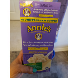 Annie's Homegrown Gluten Free Rice Shells with Creamy White Cheddar Macaroni & Cheese
