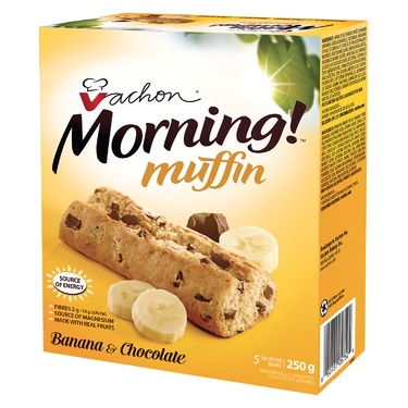 Vachon Morning Muffin Banana And Chocolate Bars