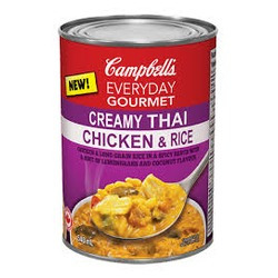 Campbell's Everyday Gourmet Creamy Thai Chicken & Rice Soup