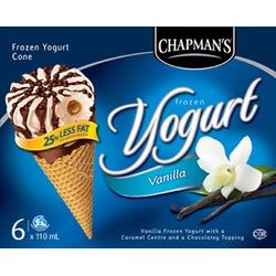 Chapman's Frozen Yogurt Vanilla Cones