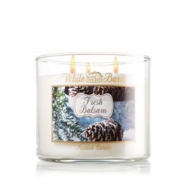 Bath & Body Works 3 Wick Candle - Fresh Balsam