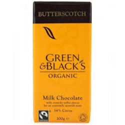 Green and Black's Organic Milk Chocolate in Butterscotch