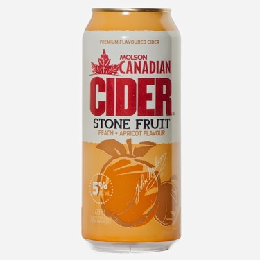 Molson Canadian Cider Stone Fruit Peach & Apricot Flavour