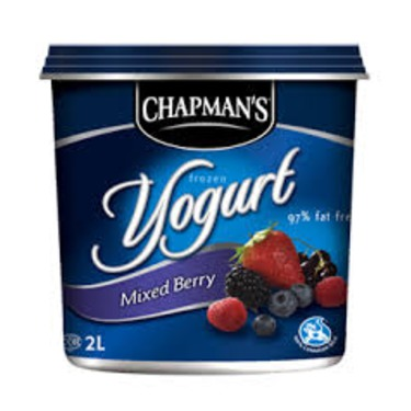 Chapman's Frozen Yogurt Mixed Berry