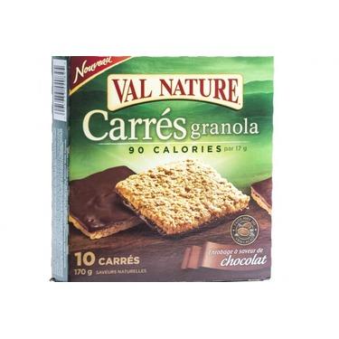 Val Nature Carrés Granola au Chocolat