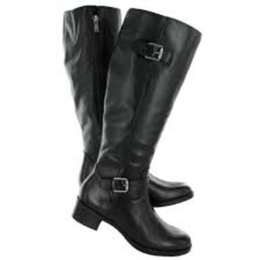 Franco Sarto CURIO Black Leather Boots