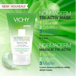 Vichy Normaderm 3-in-1 Tri-Activ Scrub, Cleanser, & Mask