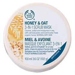 The Body Shop Honey Oat 3 in 1 Scrub Mask