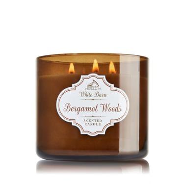 Bath & Body Works 3 Wick Candle Bergamot Woods