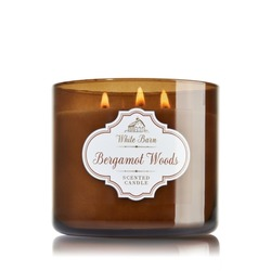 Bath & Body Works 3 Wick Candle Bergamot Woods