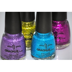 China Glaze glitter crackle
