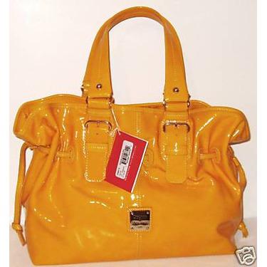 Dooney and Bourke Mustard Medium Chiara Bag