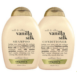 Organix Vanilla Silk shampoo and conditioner