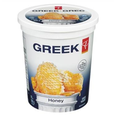 President's Choice 0% M.F. Stirred Greek Yogurt with Honey