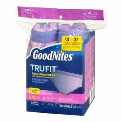 Goodnites TruFit Real Underwear for girls