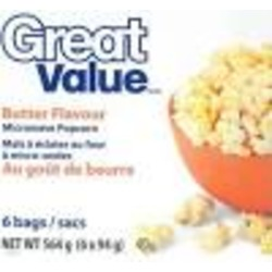 Great Value Butter Flavour Microwave Popping Corn