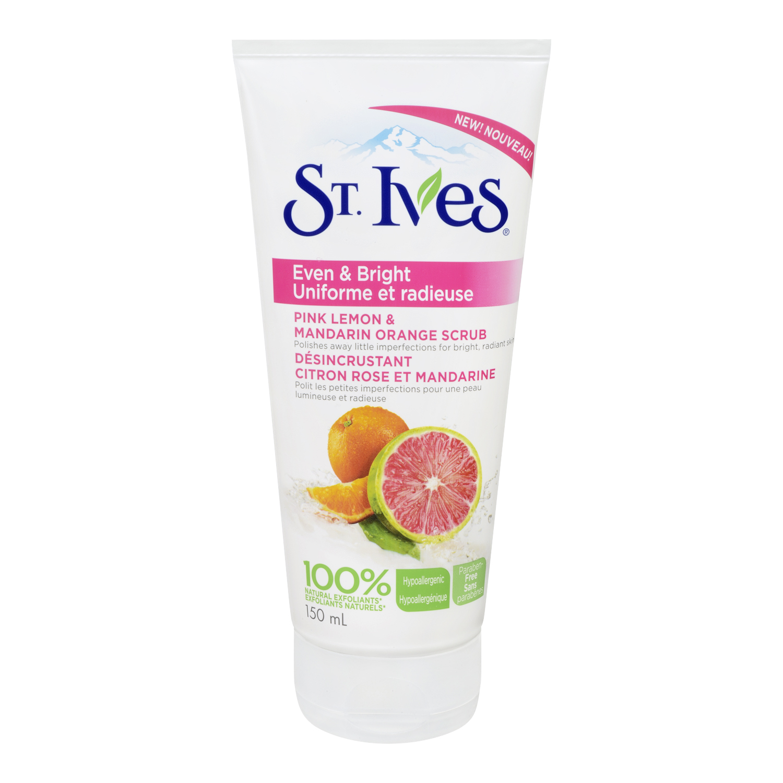 St. Ives Even & Bright Pink Lemon & Mandarin Orange Facial ...