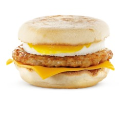 McDonald's Egg and Sausage McMuffin