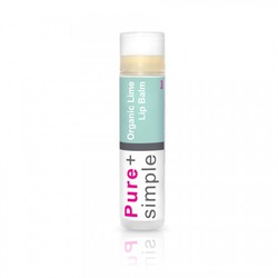 Pure+simple Lipbalm in Lime