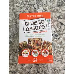 True to Nature Granola Bars