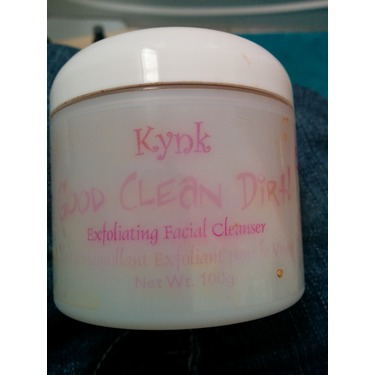 Kynk Organics Good Clean Dirt! exfoliating facial cleanser