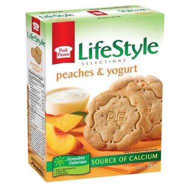 Peek Freans LifeStyle Peaches & Yogurt Cookies
