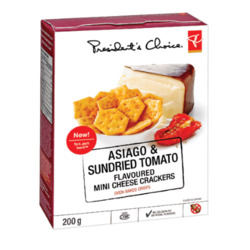 PC Asiago & Dried Sundried Tomato Mini Cheese Crackers