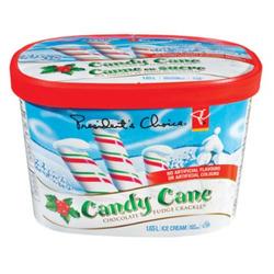 PC Candy Cane Chocolate Fudge Crackle Ice Cream
