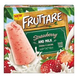 Fruttare Strawberry & Milk Frozen Fruit Bar