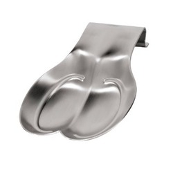 Oggi Double Stainless Steel Spoon Rest