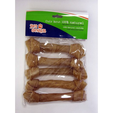 Pet Design Natural Knotted Rawhide Chews