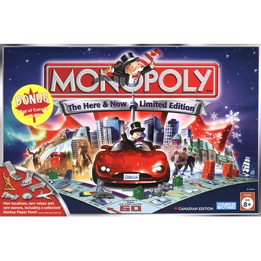 Monopoly The Here and Now Limited Canadian Edition