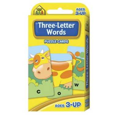 School Zone Three-Letter Words Puzzle Cards