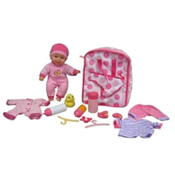 You & Me Baby Backpack Doll Set
