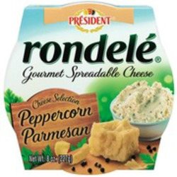 Rondelé Gourmet Spreadable Cheese Peppercorn Parmesan