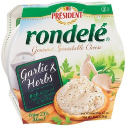 Rondelé Gourmet Spreadable Cheese Garlic and Herbs