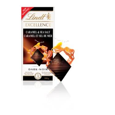Lindt Excellence Caramel and Sea Salt Dark Chocolate
