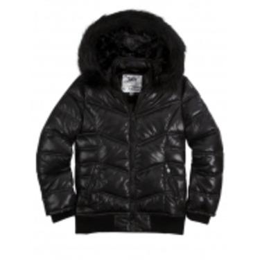 Justice — Black Puffer Coat