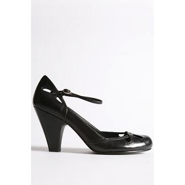 Quarterstrap Leather Heel