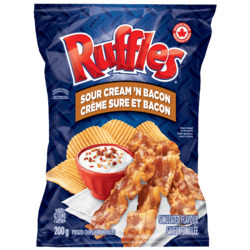 Ruffles Sour Cream and Bacon Chips