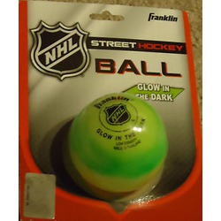 Franklin NHL Street Hockey Ball — Glow in the Dark
