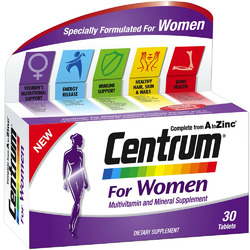 Centrum Complete A to Zinc for Women Multivitamin and Mineral Supplement