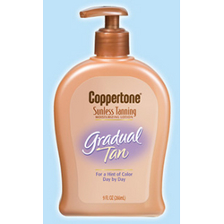 Coppertone Sunless Tanning Moisturizing Lotion Gradual Tan