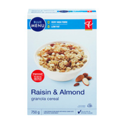 PC Blue Menu Raisin and Almond Granola Cereal