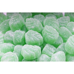 Spearmint Leaves Sugared Gummy Candies